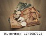 jordanian dinars and piastres...   Shutterstock . vector #1146087326