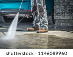 cobble stone driveway cleaning... | Shutterstock . vector #1146089960