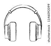 grunge music headphones object... | Shutterstock .eps vector #1146092099
