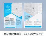 blue and white business... | Shutterstock .eps vector #1146094349