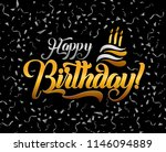 happy birthday lettering text... | Shutterstock .eps vector #1146094889