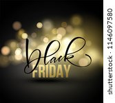 black friday sale flyer... | Shutterstock .eps vector #1146097580