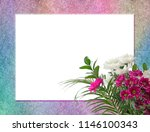 floral bouquet frame   stone...   Shutterstock . vector #1146100343