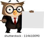 illustration of an owl... | Shutterstock .eps vector #114610090
