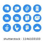 toilet paper roll  towel flat... | Shutterstock .eps vector #1146103103