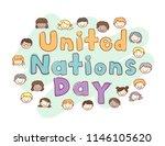 illustration of stickman kids... | Shutterstock .eps vector #1146105620