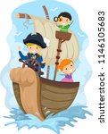 illustration of stickman kids... | Shutterstock .eps vector #1146105683