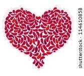 large red romantic heart on... | Shutterstock .eps vector #114610858