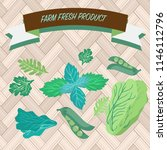 set of vector organic and fresh ... | Shutterstock .eps vector #1146112796