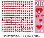 set cute heart emoji emoticons   Shutterstock .eps vector #1146117863
