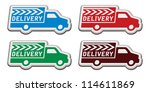 delivery truck stickers with... | Shutterstock .eps vector #114611869
