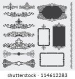 vector calligraphic design... | Shutterstock .eps vector #114612283