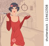 Flapper Girls Set  Vintage...