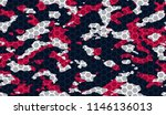 seamless red blue and white... | Shutterstock .eps vector #1146136013