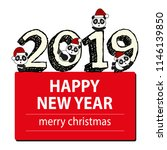 christmas and new year greeting ... | Shutterstock .eps vector #1146139850