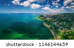 aerial drone view of sea and... | Shutterstock . vector #1146144659