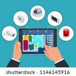 isometric alarm system home.... | Shutterstock .eps vector #1146145916