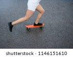 young beautiful blonde girl... | Shutterstock . vector #1146151610