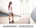portrait of young beautiful... | Shutterstock . vector #1146151616