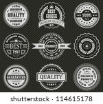 vector set of retro labels | Shutterstock .eps vector #114615178