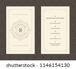 luxury business card and... | Shutterstock .eps vector #1146154130