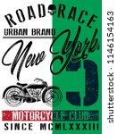 motorcycle label t shirt design ... | Shutterstock .eps vector #1146154163