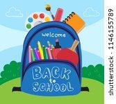 back to school vector design | Shutterstock .eps vector #1146155789