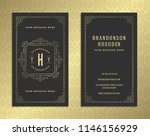 luxury business card and... | Shutterstock .eps vector #1146156929