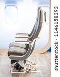 close up of aircraft seats... | Shutterstock . vector #1146158393