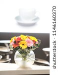 small bouquet of flowers in a... | Shutterstock . vector #1146160370