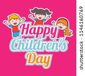 happy children's day celebration | Shutterstock .eps vector #1146160769