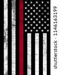 a firefighter support flag...   Shutterstock . vector #1146163199