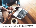 directly above of hipster... | Shutterstock . vector #1146167273