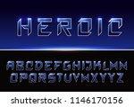 vector space modern bold font....   Shutterstock .eps vector #1146170156