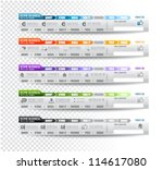 collection of web elements ... | Shutterstock .eps vector #114617080