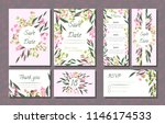 floral wedding invitation with... | Shutterstock .eps vector #1146174533