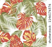 summer exotic floral tropical... | Shutterstock .eps vector #1146176576