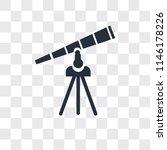telescope vector icon isolated... | Shutterstock .eps vector #1146178226