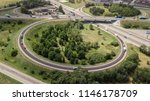 aerial shot of a car moving on...   Shutterstock . vector #1146178709