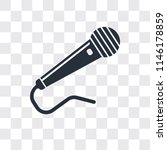 microphone black shape vector... | Shutterstock .eps vector #1146178859