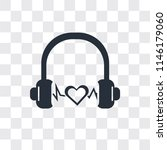 headphone black shape vector... | Shutterstock .eps vector #1146179060