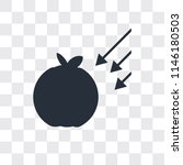 gravity vector icon isolated on ... | Shutterstock .eps vector #1146180503