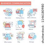business communication icons ... | Shutterstock .eps vector #1146180980