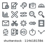 set of 20 icons such as share ...