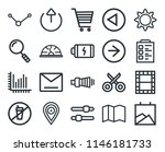 set of 20 icons such as gallery ...