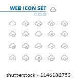 cloud linear icons web set.... | Shutterstock .eps vector #1146182753