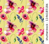 seamless wallpaper with wild... | Shutterstock . vector #1146185186