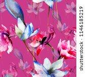 floral seamless pattern ... | Shutterstock . vector #1146185219