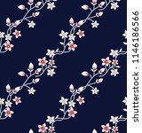 flower pattern on navy | Shutterstock .eps vector #1146186566