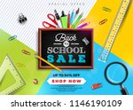 back to school sale design with ... | Shutterstock .eps vector #1146190109